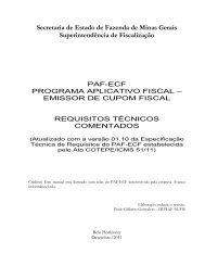 Secretaria de Estado de Fazenda de Minas Gerais ...