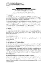 EDITAL DE CREDENCIAMENTO ? SEF/MG - Secretaria de Estado ...