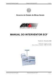 MANUAL DO INTERVENTOR ECF - Secretaria de Estado de ...
