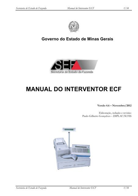 MANUAL DO INTERVENTOR ECF - Secretaria de Estado de ...