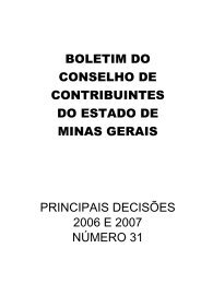 boletim do conselho de contribuintes do estado de minas gerais ...