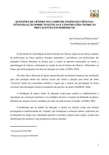 Ana Cristina Leal Moreira Lima - Fazendo Gênero