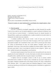 Gênero, raça/etnia e escolarização. ST 23 Rosemeire dos Santos ...