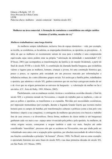 Gênero e Religião ST. 23 Erica Piovam de Ulhôa ... - Fazendo Gênero