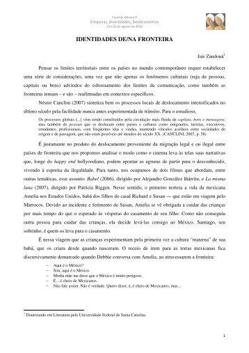 IDENTIDADES DE/NA FRONTEIRA - Fazendo Gênero