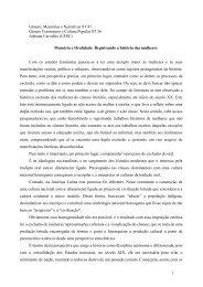 MEMÓRIA E ORALIDADE: - Fazendo Gênero - UFSC
