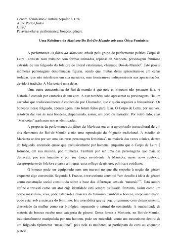 Aline Porto Quites - Fazendo Gênero - UFSC