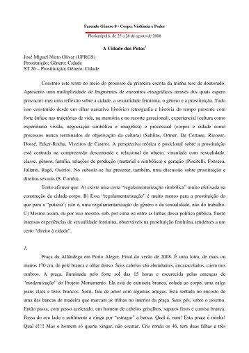 A Cidade das Putas José Miguel Nieto Olivar ... - Fazendo Gênero