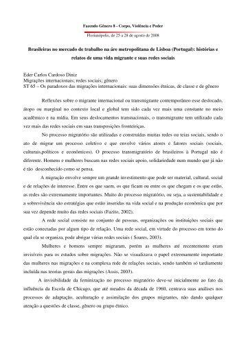 Brasileiras no mercado de trabalho na áre ... - Fazendo Gênero