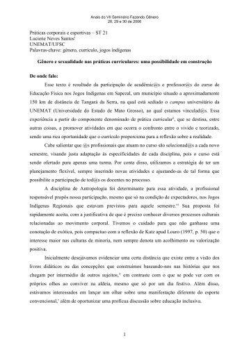 Escrevendo a história no feminino - Fazendo Gênero - UFSC