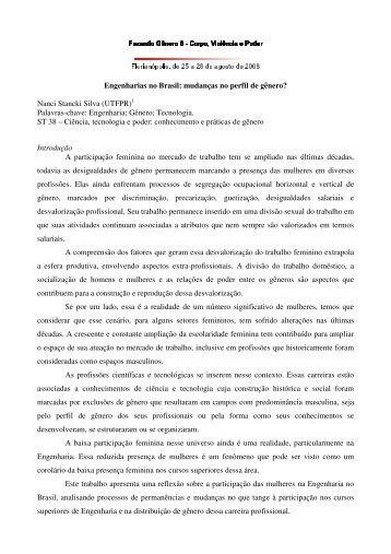 Engenharias no Brasil: mudanças no perfil de ... - Fazendo Gênero