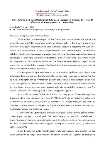 Anna Paula Vencato - Fazendo Gênero - UFSC