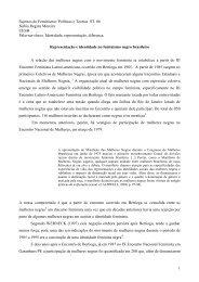 Políticas e Teorias ST. 06 Núbia Regina Moreira ... - Fazendo Gênero