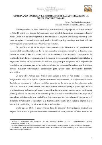 GOBERNANZA COSTERA Y LA INVISIBLIDAD ... - Fazendo Gênero