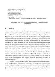 Gênero, Ciência e Tecnologia. ST 22 Maria de ... - Fazendo Gênero