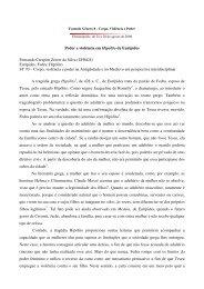Poder e violência em Hipólito de Eurípides ... - Fazendo Gênero