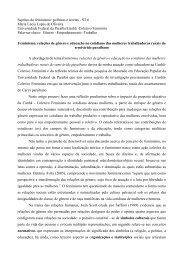 Sujeitos do feminismo: políticas e teorias - ST 06 - Fazendo Gênero