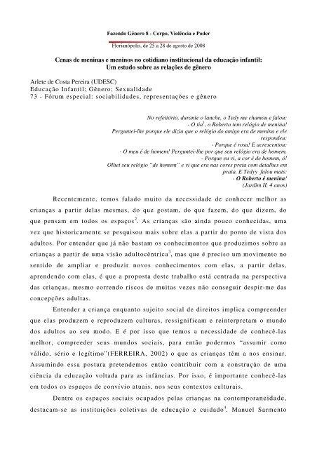 Um estudo sobre as relações de gênero Arlete de - Fazendo ...