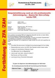 reiche PZR - Fortbildungsakademie Zahnmedizin Hessen GmbH