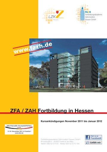 ZFA / ZAH Fortbildung in Hessen - Fortbildungsakademie ...