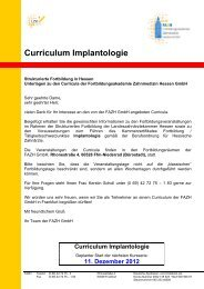 Curriculum Implantologie - Fortbildungsakademie Zahnmedizin ...