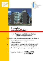 Curriculum AltersZahnMedizin - Fortbildungsakademie Zahnmedizin ...