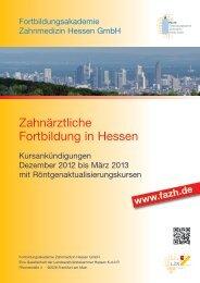 Anmeldung - Fortbildungsakademie Zahnmedizin Hessen GmbH
