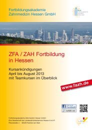 August 2013 - Fortbildungsakademie Zahnmedizin Hessen GmbH