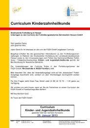 Curriculum Kinderzahnheilkunde - Fortbildungsakademie ...