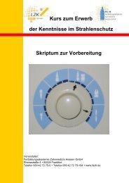 Kurs zum Erwerb der Kenntnisse im Strahlenschutz Skriptum zur ...