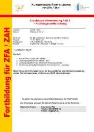 Crashkurs Abrechnung Teil I - Fortbildungsakademie Zahnmedizin ...