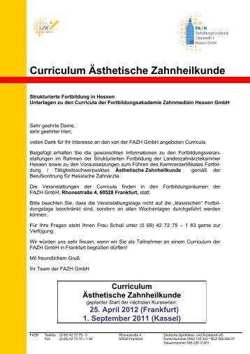 Curriculum Ästhetische Zahnheilkunde - Fortbildungsakademie ...
