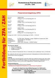 Fissurenversiegelung - Fortbildungsakademie Zahnmedizin Hessen ...