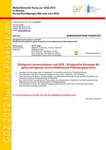 Erfolgreich kommunizieren und GOZ - Fortbildungsakademie ...