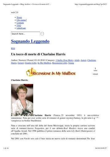 Sognando Leggendo » Blog Archive » Un tocco di ... - Fazi Editore