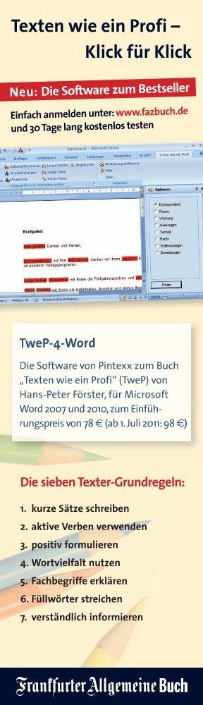 Texten wie ein Profi – Klick für Klick - FAZ-Institut