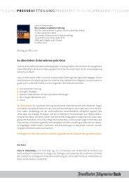 Pressemitteilung - FAZ-Institut