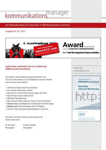 Ausgabe Nr. 10 / 2012 - FAZ-Institut