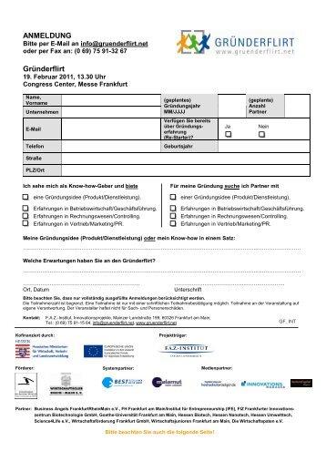 GFL_Anmeldebogen Februar 2011_v01 - FAZ-Institut