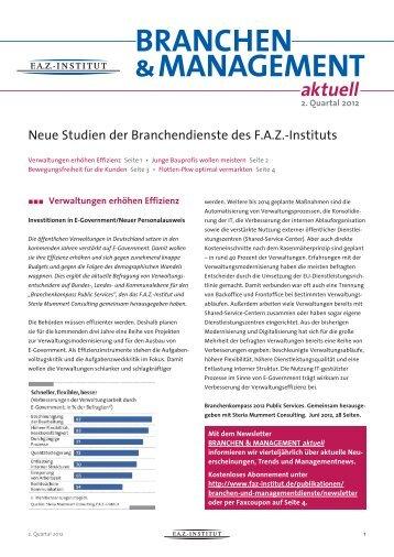 BraNChEN & MaNaGEMENt - FAZ-Institut
