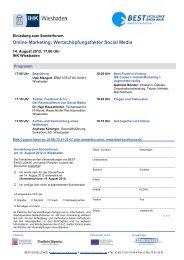 Einladung zur Veranstaltung mit anschließendem ... - FAZ-Institut