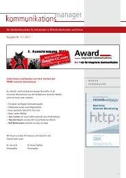 Ausgabe Nr. 12 / 2012 - FAZ-Institut