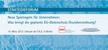 STRATEGIEFORUM - FAZ-Institut