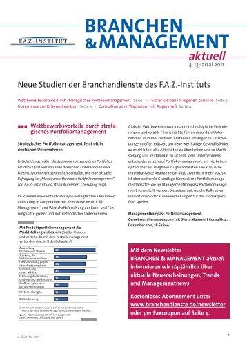 BRANCHEN &MANAGEMENT aktuell - FAZ-Institut