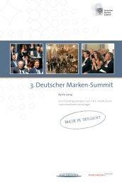 Dokumentation zum 3. Deutschen Marken-Summit - FAZ-Institut