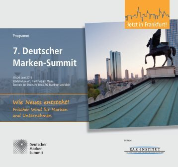 7. Deutscher Marken-Summit - FAZ-Institut