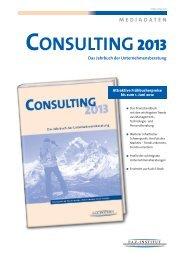 Consulting 2013 - FAZ-Institut