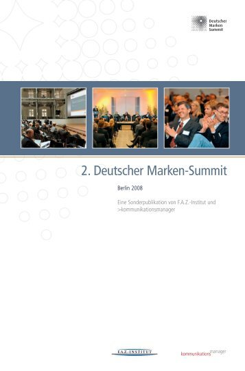 2. Deutscher Marken-Summit - FAZ-Institut