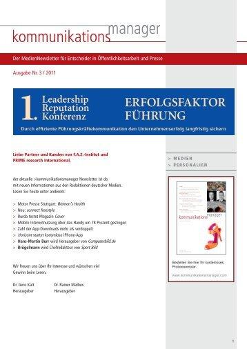 Ausgabe Nr. 3 / 2011 - FAZ-Institut