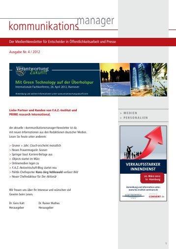 Ausgabe Nr. 4 / 2012 - FAZ-Institut
